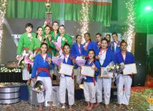 В Ташкенте прошло соревнование «Королевы кураша»
