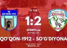 Суперлига: «Согдиана» одержала победу над «Кокандом-1912»