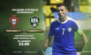 Сборная Узбекистана по футзалу одержала победу над Португалией