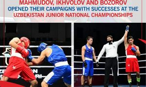 Mahmudov, Ikhvolov and Bozorov opened their campaigns with successes at the Uzbekistan Junior National Championships