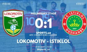 «Локомотив» проиграл «Истиклолу» и выбыл из борьбы за право на участие в групповой стадии ЛЧА