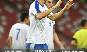 Национальная сборная Узбекистана одержала уверенную победу над Сингапуром
