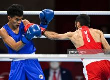 Reigning Olympic champion Shakhobidin Zoirov is stopped in the quarterfinal by Paalam