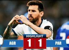 Аргентина – Парагвай 1:1 (видео)