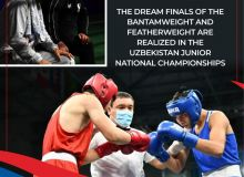 The dream finals of the bantamweight and featherweight are realized in the Uzbekistan Junior National Championships
