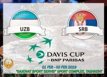 «Davis Cup». Сербия терма жамоаси пойтахтимизда Ўзбекистонга қарши ўйинга тайёргарлик кўрмоқда
