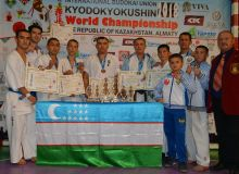 Uzbekistan's athletes pick seven medals at the World KyodoKyokushin Karate Championship