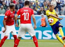 Швейцарияни енгган Швеция навбатдаги чорак финалчига айланди (видео)