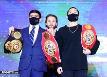 Наши звездные боксеры приняли участие в пресс-конференции (фотогалерея)