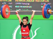 Uzbekistan's Muattar Nabieva earns silver medal at the International Solidarity Weightlifting Championships in Cairo