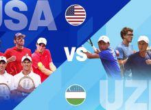 US leads Uzbekistan 2-0 after Davis Cup qualifier Day 1