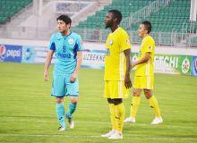 FC Pakhtakor play a 1-1 draw with FC Neftchi in Fergana
