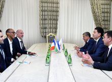 Франция ФФ вакиллари Умид Аҳмаджонов билан учрашди