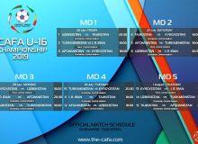 Стало известно расписание матчей турнира «CAFA U-16 championship-2019»