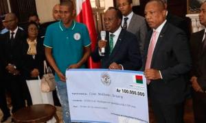Мадагаскар футболчиларига 25 минг евро берилди