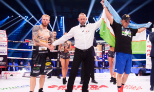 Sherzod Khusanov returns to the ring as Polish Robert Parzeczewski stunned by TKO