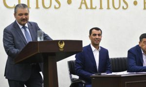 Abdusalom Azizov was re-elected as the head of the FAU