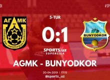 FC Bunyodkor gain a 1-0 win over FC AGMK in Almalyk