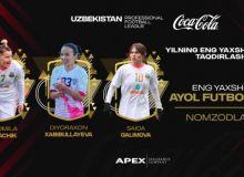 """Финальная тройка кандидатов на звание """"Лучшего футболиста женщины 2020 года""""."""