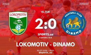 Суперлига: «Локомотив» уверенно обыграл «Динамо»