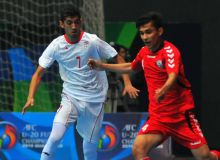 Iran earn a 4-2 win over Afghanistan in the 2019 AFC U-20 Futsal Championship Qualifiers