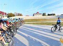 Ольга Забелинская провела мастер класс для юных велоспортсменов