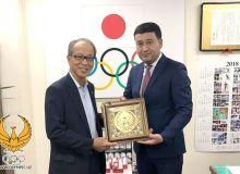 Умид Ахматджанов встретился с президентом Национального Олимпийского комитета Японии