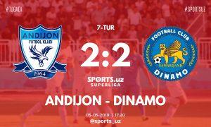 Суперлига: «Андижан» и «Динамо» разошлись миром