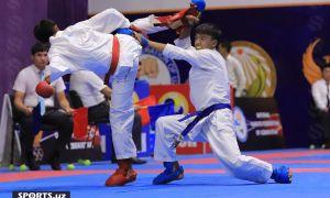Karate bo'yicha O'zbekiston kubogi bahslari qizg'in pallasiga kirib bormoqda (fotogalereya)