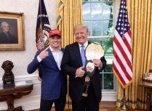 UFC жангчиси АҚШ президентига катта ваъда бериб юборди