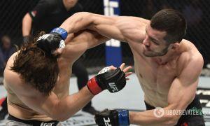 Uzbek UFC fighter Makhmud Muradov knocked out American Andrew Sanchez