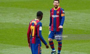 """Барселона"" Месси гол урган баҳсда сўнгги дақиқалардаги пенальти туфайли очко йўқотди!"