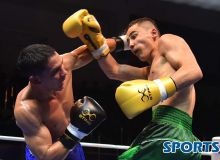 Photo Gallery. Khudoynazar Fayzov receives a defeat from Ceiber David Avila