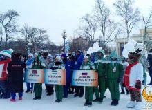 «Дети Азии». В Сахалинске развевается флаг Узбекистана