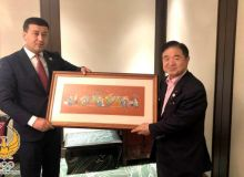 Умид Ахматджанов встретился с вице-президентом организационного комитета по проведению Олимпийских и Паралимпийских игр в Токио Тошиаки Эндо