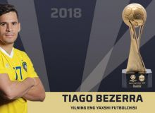 FC Pakhtakor's Tiago Bezerra wins 2018 PFL Player of the Year award