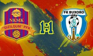 В контрольном матче «Кызылкум» - «Бухара» победитель не определился