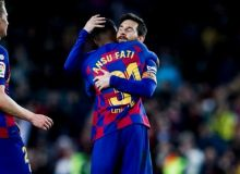 "Ла Лига. Фатининг дубли ""Барселона""га ""Леванте"" устидан ғалаба келтирди"