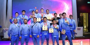 Jalolov outboxed Kunkabayev to become a three times Asian champion