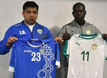 Uzbekistan wear blue jersey in friendly against Senegal