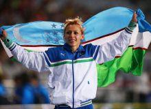 Надия Дусанова на высшей ступени пьедестала почета в Чехии