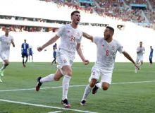 Евро-2020. 5 та гол урган Испания 2-ўринни эгаллади, Левандовскининг дубли жамоасини қутқара олмади