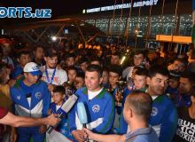 Photo Gallery. World Cup Diamond WAKO 2018 winners arrive in Tashkent