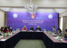 A press conference dedicated to the General Assembly of the Asian Fencing Confederation