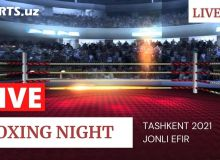 """Tashkent-2021 Boxing night"": Абдуҳамид Ҳакимов WBC Asia камарини қўлга киритди! (матнли трансляция)"