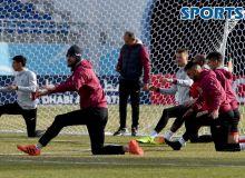 «Локомотив» провел официальную тренировку перед матчем с «Аль-Вахда» (Фото)