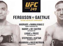 """UFC 249"". Тўртта жанг ўз ниҳоясига етди"