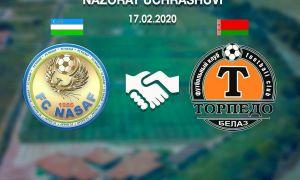 Контрольный матч: «Насаф» одержал победу над белорусским клубом