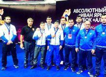 Uzbekistan's wrestlers take part in the International Wrestling Tournament Alrosa Cup