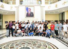 Сакен Полатов провёл встречу с представителями сборной Узбекистана по боксу